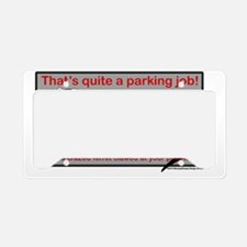 Parking Ferret (grey-red) License Plate Holder