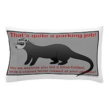 Parking Ferret (grey-red) Pillow Case