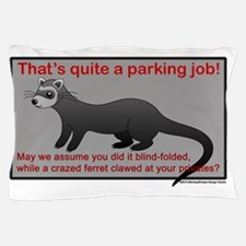 Parking Ferret (grey-red) Pillow Case