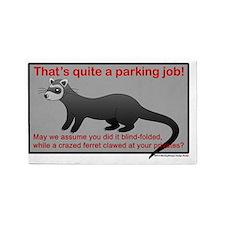 Parking Ferret (grey-red) 3'x5' Area Rug
