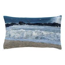 Ocean Beach Rocks Cape May Shower Curt Pillow Case