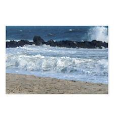 Ocean Beach Rocks Cape Ma Postcards (Package of 8)
