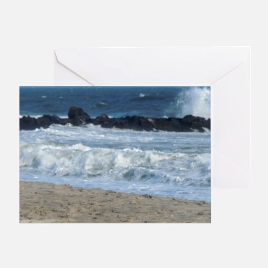 Ocean Beach Rocks Cape May Shower Cu Greeting Card