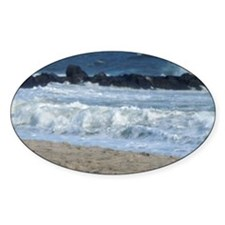 Ocean Beach Rocks Cape May Shower C Decal