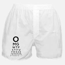 Texting Eye Chart Boxer Shorts