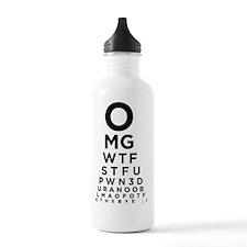 Texting Eye Chart Water Bottle