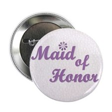 Maid of Honor (lilac) Button
