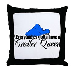 Trailer Queen Throw Pillow