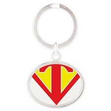 Super T Oval Keychain