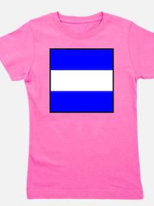 Nautical Flag Code Juliet Girl's Tee