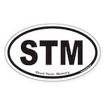 STM Short Term Memory Euro Oval Sticker