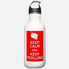 Keep Calm and Keep Tro Water Bottle