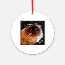 Himalayan Persian Cat Round Ornament