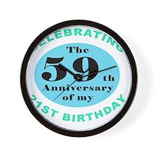 80th Birthday Humor Wall Clock