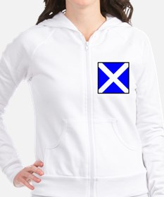Nautical Flag Code Mike Fitted Hoodie