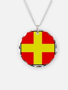 Nautical Flag Code Romeo Necklace