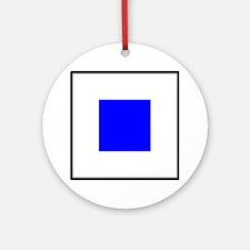 Nautical Flag Code Sierra Round Ornament