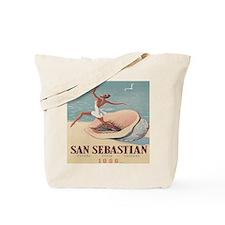 Vintage Spain Woman Seashell Tote Bag