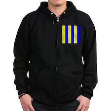 Nautical Flag Code Golf Zip Hoodie