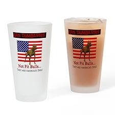 Ban Dumbasses... NOT Pit Bulls! Drinking Glass