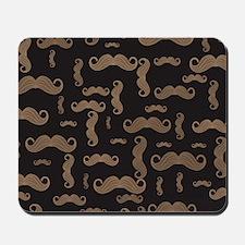 Retro Mustache Pattern Mousepad