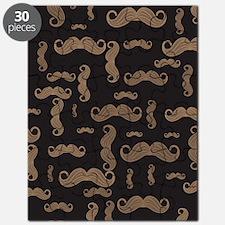 Retro Mustache Pattern Puzzle