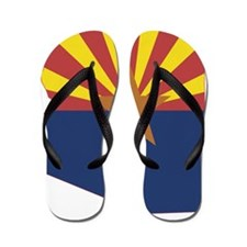 Arizona State Map and Flag Flip Flops