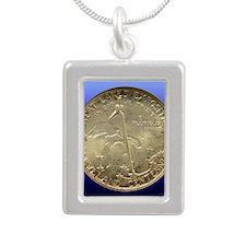 Cleveland Centennial Hal Silver Portrait Necklace