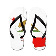 California State Map and Flag Flip Flops