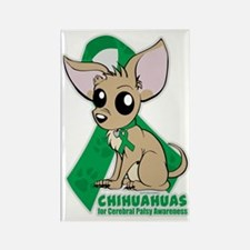 Chihuahuas for Cerebral Palsy Rectangle Magnet