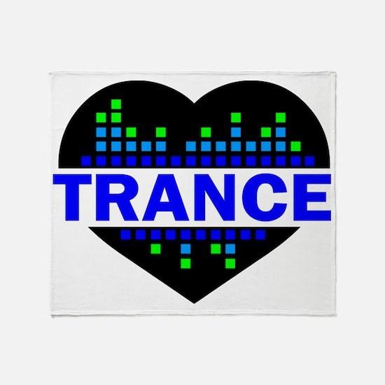Trance Heart tempo design Throw Blanket