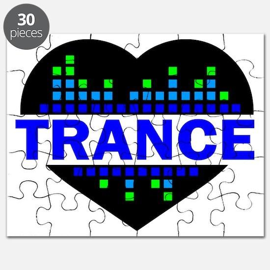 Trance Heart tempo design Puzzle