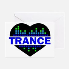 Trance Heart tempo design Greeting Card