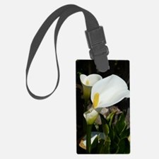 White Lily Luggage Tag