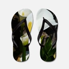 White Lily Flip Flops