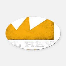 el rey logo white Oval Car Magnet