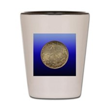 Cleveland Centennial Half Dollar Coin  Shot Glass