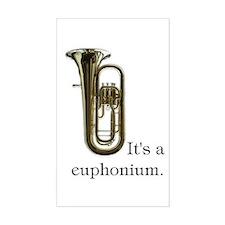 It's a Euphonium Instrument Case Decal
