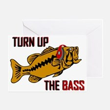 Funny Turn up the Bass design Greeting Card