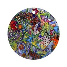 Cool Paisley Round Ornament