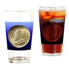 Cleveland Centennial Half Dollar Co Drinking Glass
