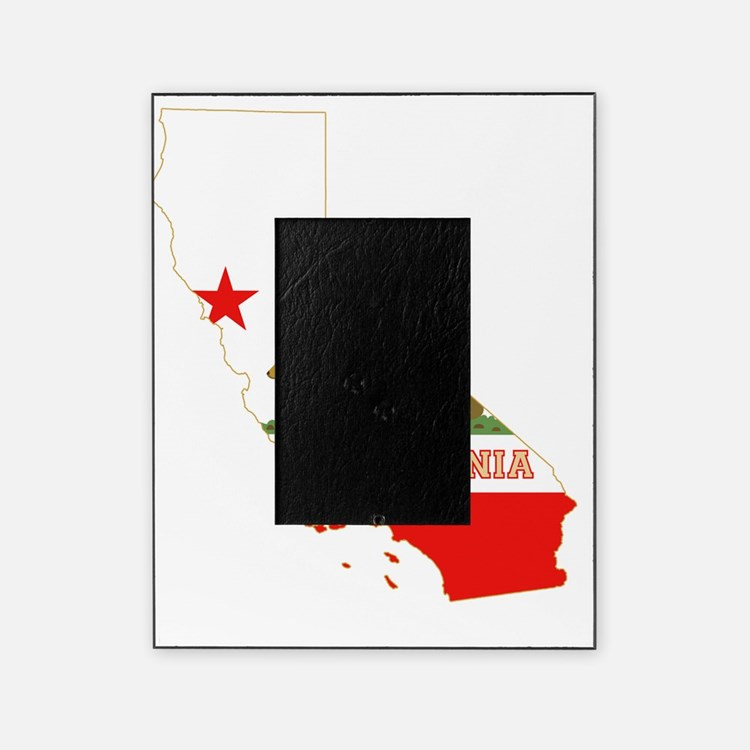California State Map and Flag Picture Frame