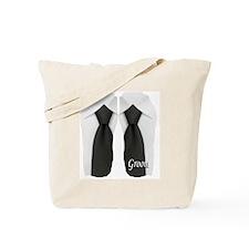 groom black tie flip flop Tote Bag