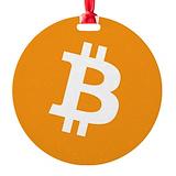 Bitcoin Round Ornament