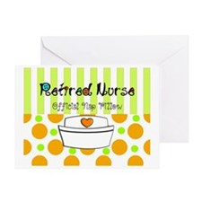 Retired nurse official nap pillow 2 Greeting Card