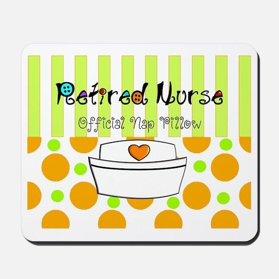 Retired nurse official nap pillow 2 Mousepad