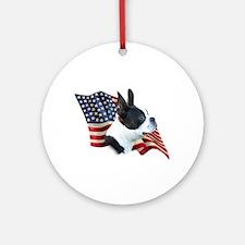 Boston Flag Ornament (Round)