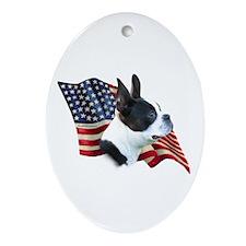 Boston Flag Oval Ornament