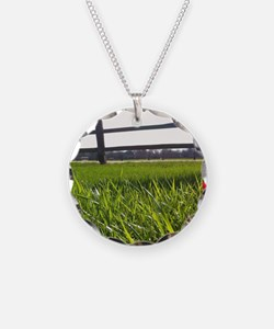 Push and Grow quote Necklace
