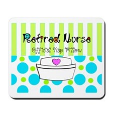 Retired Nurse Offician Nap pillow 1 Mousepad